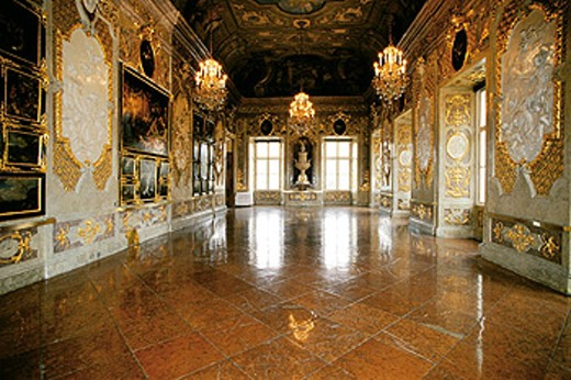The Ballroom. Belvedere Palace. Vienna. Austria : Stock Photo