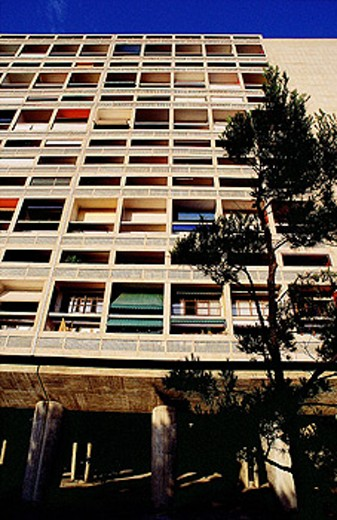 Unité d´habitation (Cité Radieuse), apartments by Le Corbusier. Marseille. France : Stock Photo