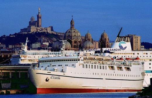 Algeiran ship at port. Marseille. France : Stock Photo