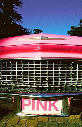 Stock Photo: 1566-052932 Sixties Cadillac. Napa Valley. California. USA