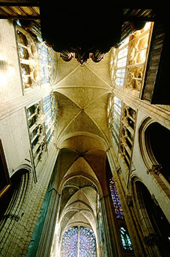 Gothic cathedral of Saint-Gatien. Tours. France : Stock Photo