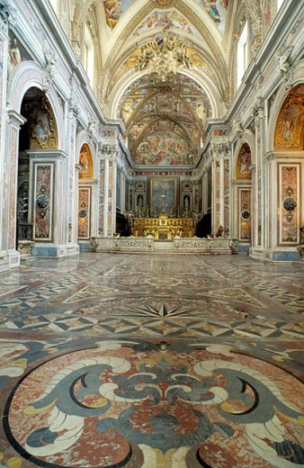 Stock Photo: 1566-053211 Church of the San Martino chartreuse. Naples. Italy