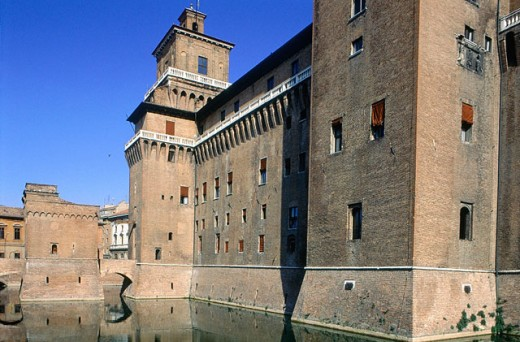 Este Castle (1385-1570). Ferrara. Italy : Stock Photo