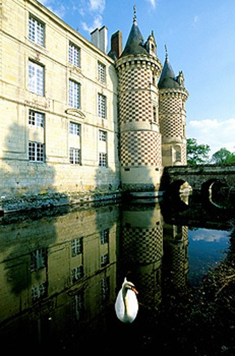 Chateau des Reaux Hotel. Touraine (Chateaux country). Val-de-Loire. France : Stock Photo