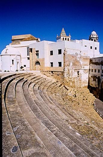 Cathedral built 18th century. Cádiz, Spain : Stock Photo