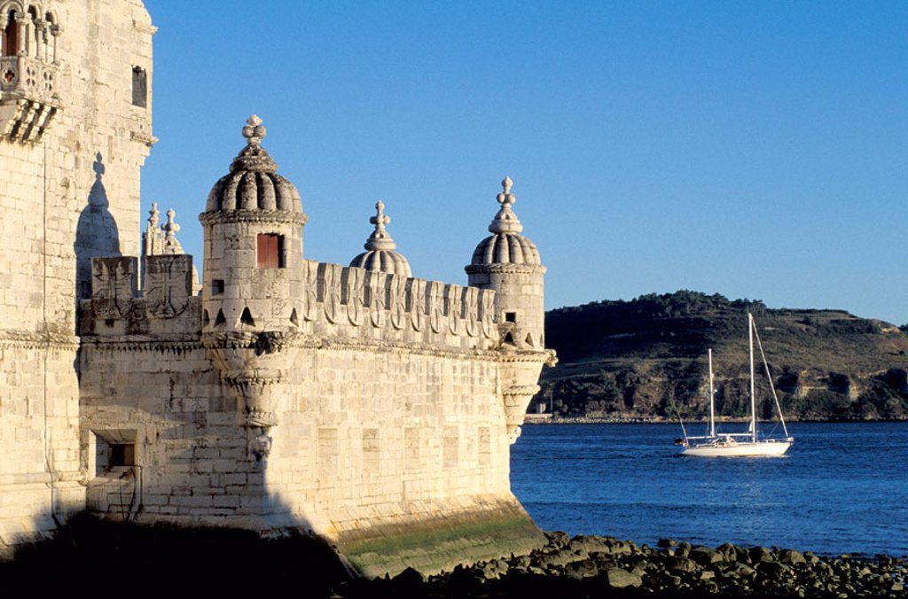 Stock Photo: 1566-054034 Belem Tower, built on Tagus river from 1515 to 1525. Lisbon. Portugal