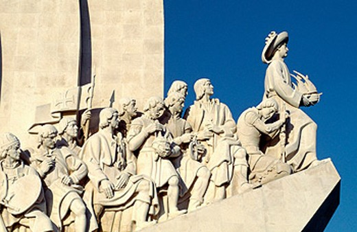 Monument of the Discoveries dedicated to portuguese seamen. Lisbon. Portugal : Stock Photo