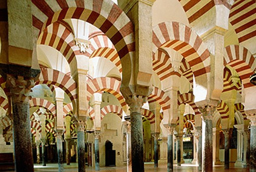 Stock Photo: 1566-054132 Interior of Great Mosque, Córdoba. Spain