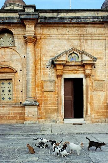 Akrotiri monastery. Crete. Greece : Stock Photo