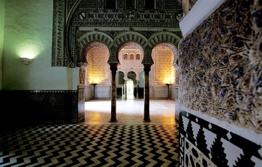 Stock Photo: 1566-054423 Almohad style rooms and courtyards of the Alcázar palace. Sevilla, Spain