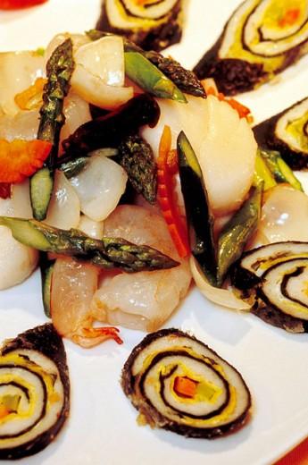 Shanghai style sea food, Chinese restaurant of Sheraton Hotel. Hongqiao new business district. Shanghai. China : Stock Photo