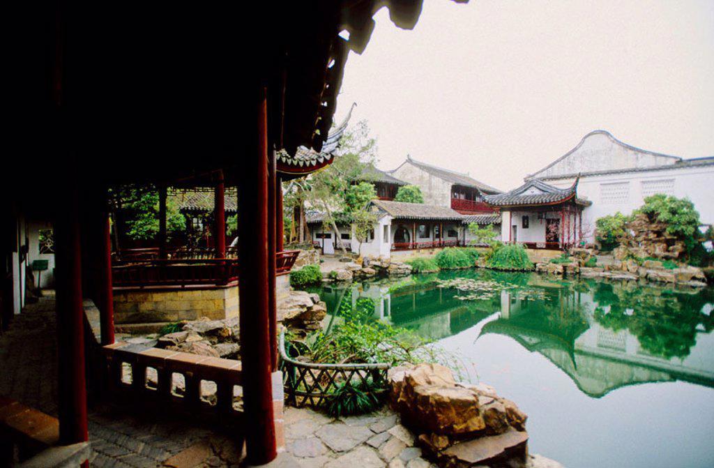 Stock Photo: 1566-054945 Herbs garden. Suzhou. Kiangsu province, China