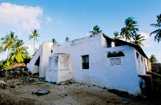 Ancient mosque in Kipungani. Lamu Island. Indian Ocean Coast. Kenya : Stock Photo