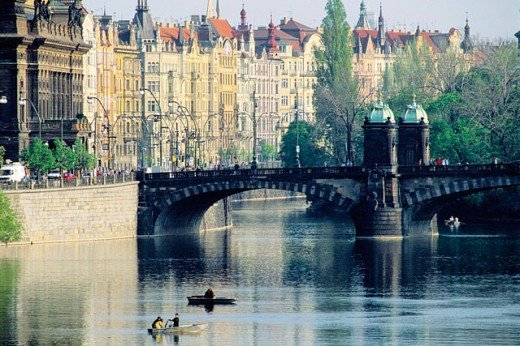 Landscape on the Vltava river. Prague. Czech Republic : Stock Photo