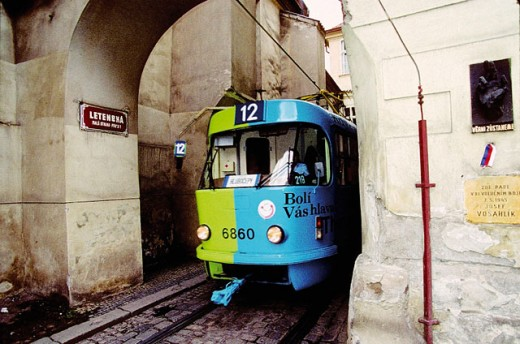 Stock Photo: 1566-055269 Tramway. Prague. Czech Republic