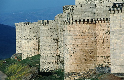 Knights fortress (Crac des chevaliers), Syria : Stock Photo