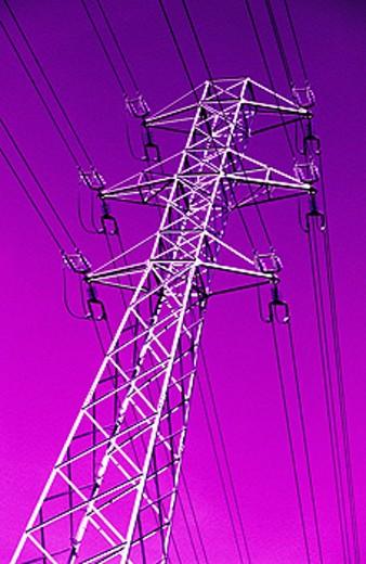 Power lines : Stock Photo