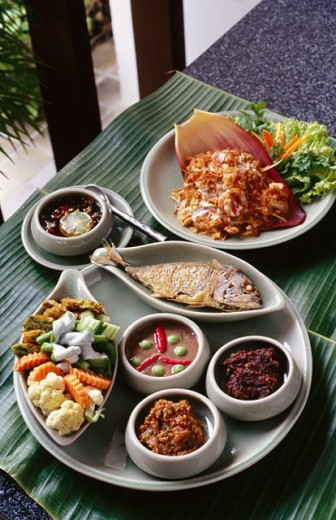 Typical meal. Bangkok. Thailand : Stock Photo