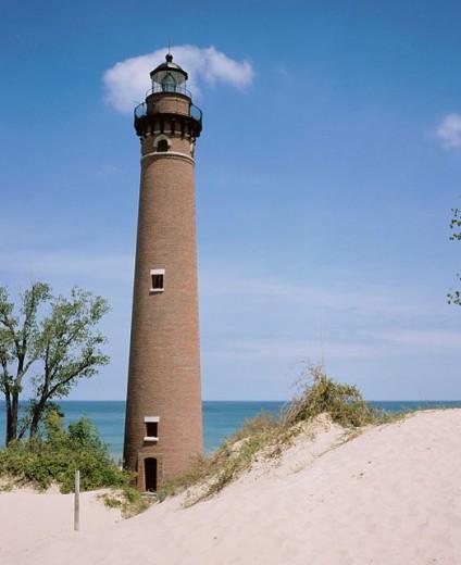 Little sable light. Lighthouse. Michigan. USA : Stock Photo