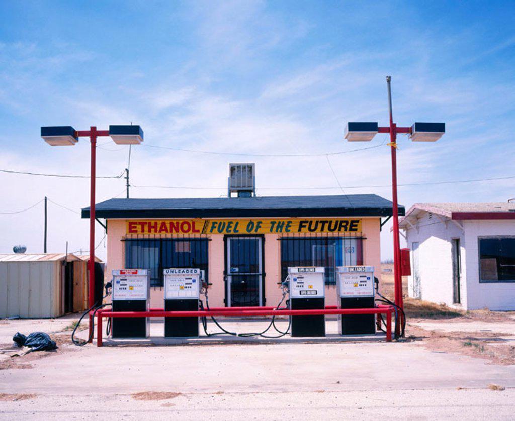 Gas station. Texas. USA : Stock Photo