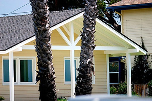 Houses. Santa Barbara, California. USA : Stock Photo