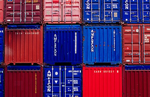 Containers at port. Bilbao. Spain : Stock Photo