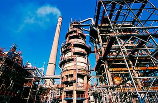 Stock Photo: 1566-059084 Muskiz oil refinery. Biscay. Spain