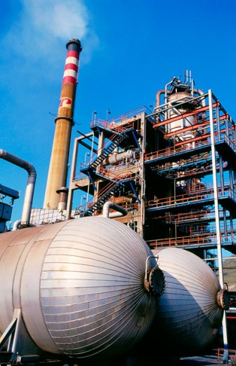 Stock Photo: 1566-059089 Muskiz oil refinery. Biscay. Spain