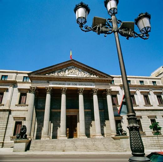 `Congreso de los Diputados´ (Congress of Deputies). Plaza de las Cortes. Madrid. Spain : Stock Photo