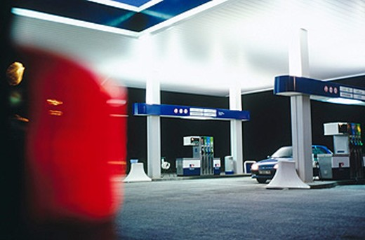 Petrol station. Bergara, Guipúzcoa. Euskadi. Spain : Stock Photo