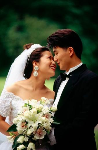 Korean Wedding Couple : Stock Photo