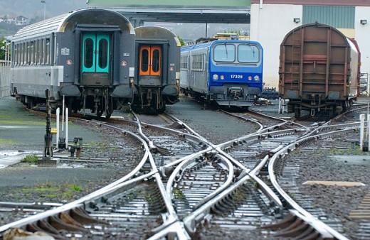 Railway station. Hendaye. Aquitaine, France : Stock Photo