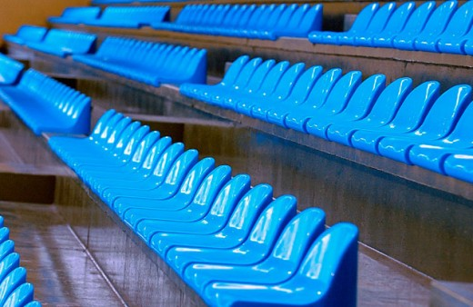Stock Photo: 1566-062407 Seats at sports arena
