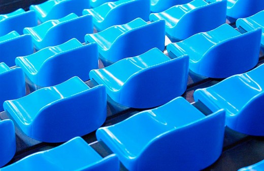 Seats at sports arena : Stock Photo