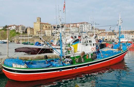 Fishing port. Getaria. Guipúzcoa, Spain : Stock Photo