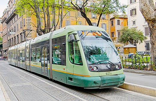 Tram. Via Torre Argentina. Rome. Italy : Stock Photo