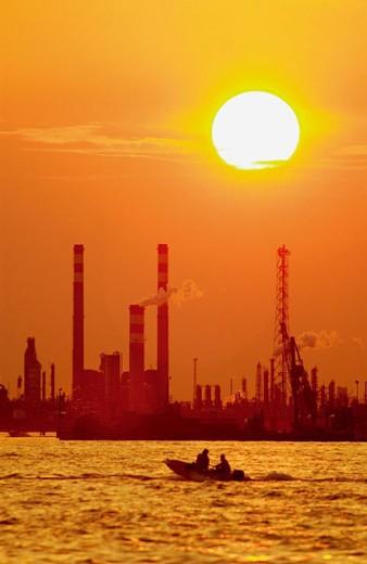 Oil refinery. Venice. Veneto, Italy : Stock Photo