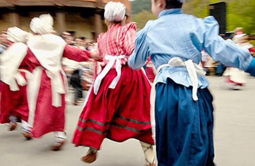 Stock Photo: 1566-063329 Basque folklore. Fiestas de la Cruz. Legazpi. Gipuzcoa. Basque Country. Spain