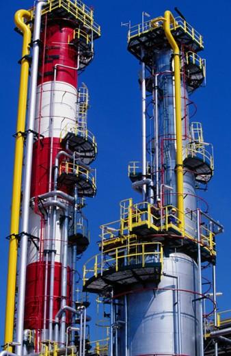 Hydrocracker. Repsol-YPF oil refinery. Tarragona province. Spain : Stock Photo