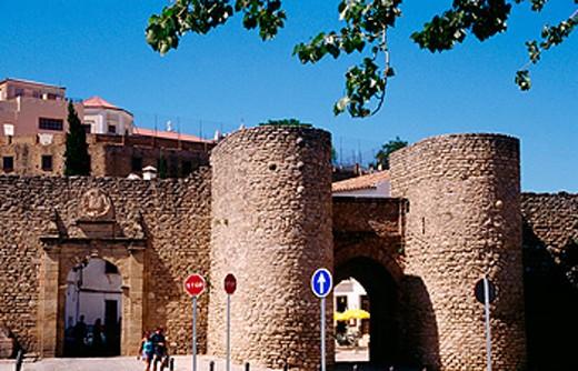 Stock Photo: 1566-063747 Puerta de Almocabar. Ronda. Málaga province. Andalusia. Spain