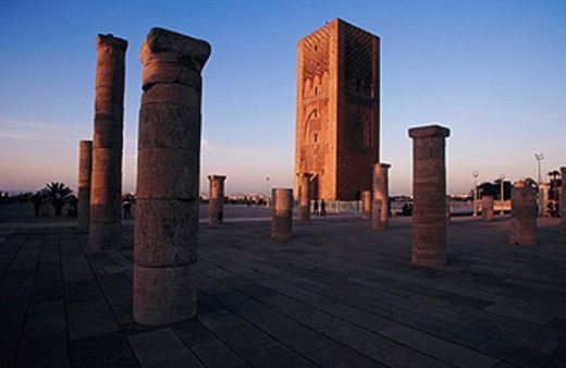 Stock Photo: 1566-063823 Tower of Hassan, 12th century. Rabat. Morocco