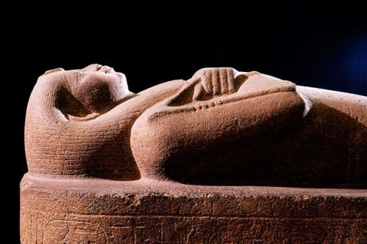Sarcophagus of Nitocris. Egyptian Museum. Egypt : Stock Photo