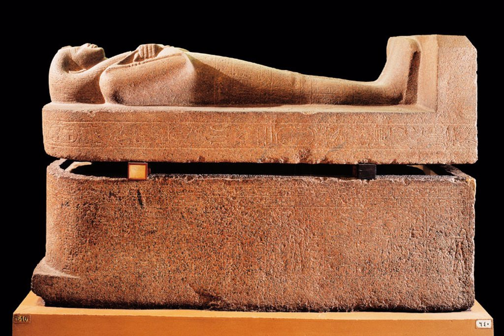 Stock Photo: 1566-063838 Sarcophagus of Nitocris. Egyptian Museum. Egypt