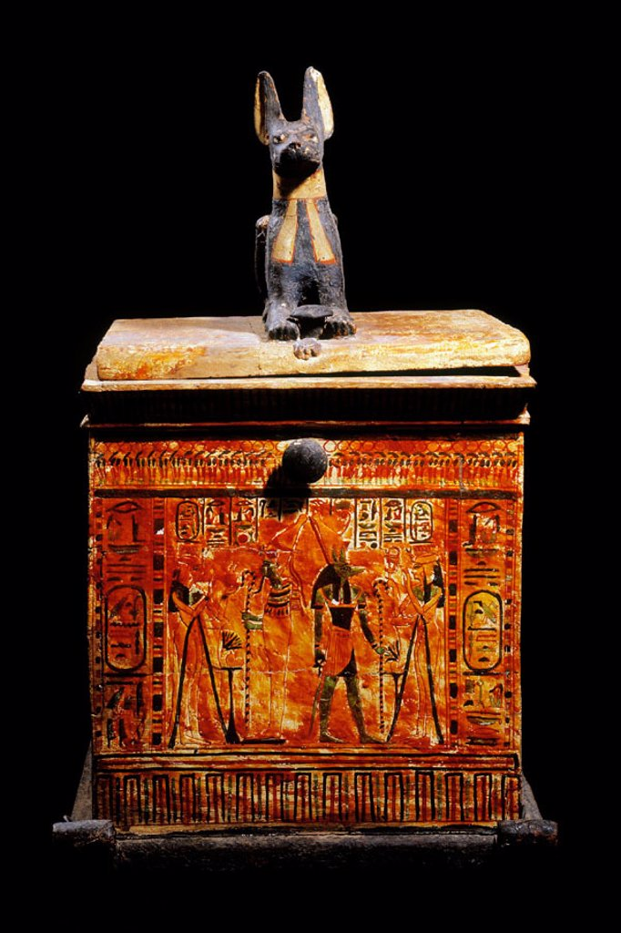 Stock Photo: 1566-063869 Canopic chest. Egyptian Museum. Egypt
