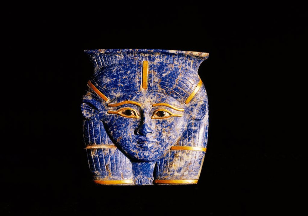 Small head of Hator. Egyptian Museum. Egypt : Stock Photo