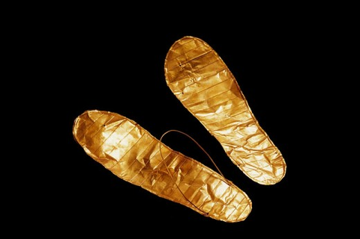 Funerary sandals. Egyptian Museum. Egypt : Stock Photo