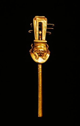Stock Photo: 1566-063885 Sistrum. Egyptian Museum. Egypt