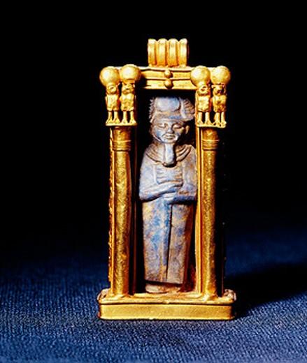 God in shrine. Egyptian Museum. Egypt : Stock Photo