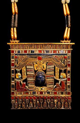 Stock Photo: 1566-063896 Pectoral of king Psusennes I. Egyptian Museum. Egypt