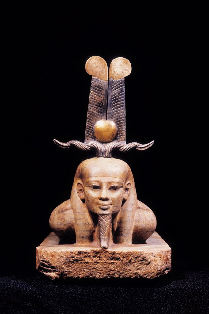Stock Photo: 1566-063915 Statue of Osiris lying, 26th dynasty. Egyptian Museum. Egypt